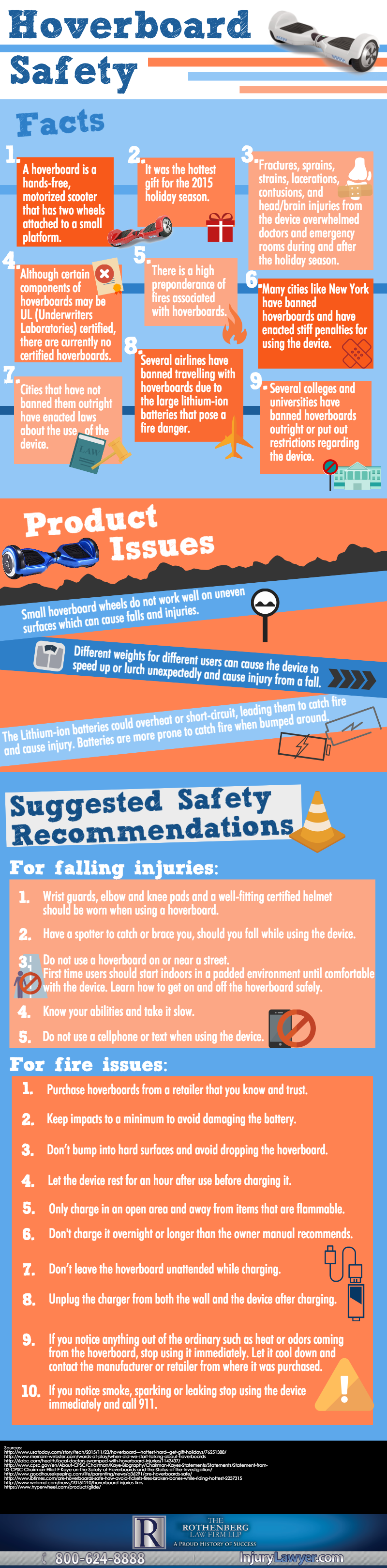 Hover board Safety Infographic
