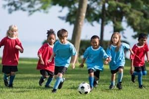 Children Suffering Soccer Injuries