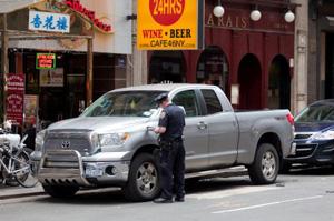 NYPD Seatbelt Crackdown