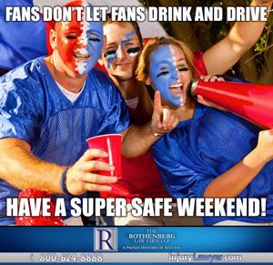 Super Bowl Drink & Drive Meme