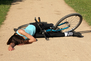Woman in bike accident