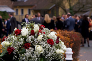 Funeral of a wrongful death victim