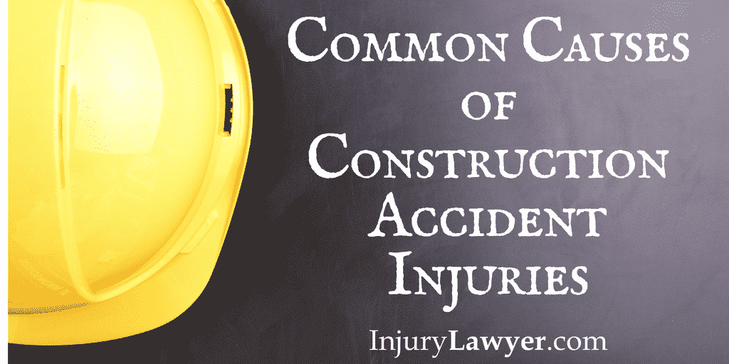 Hard hat featured in common causes of construction accidents