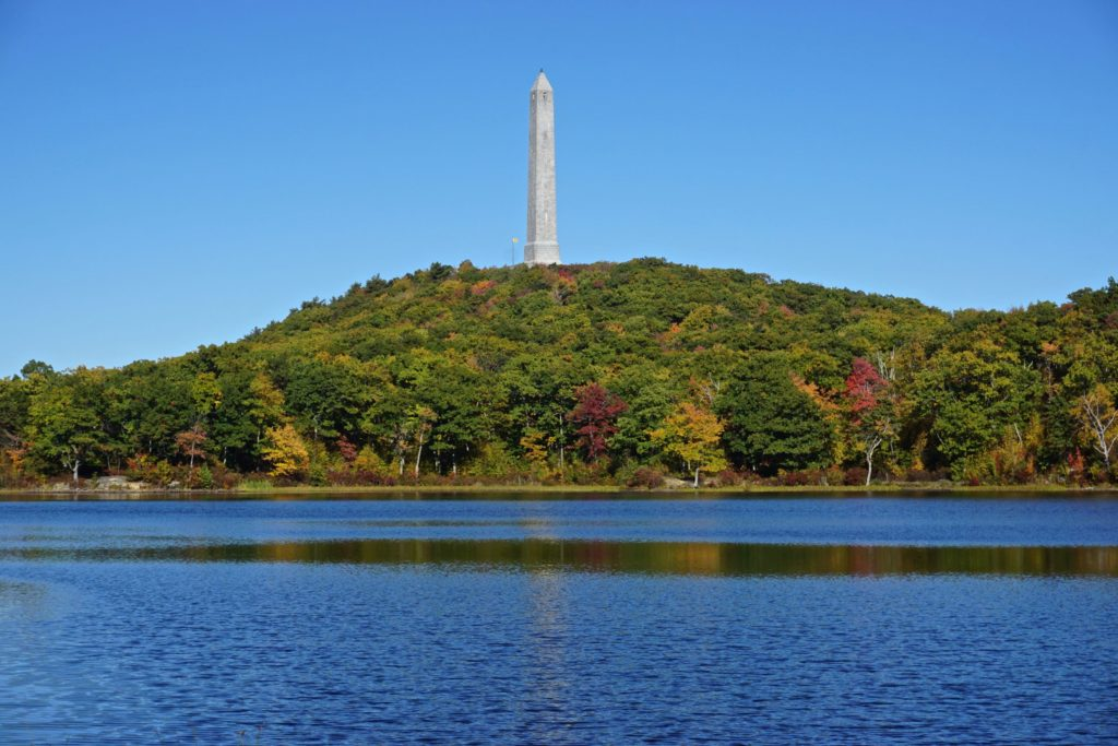 Veterans monument on the mountain overlooking Lake Marcia in Sussex County, New Jersey.